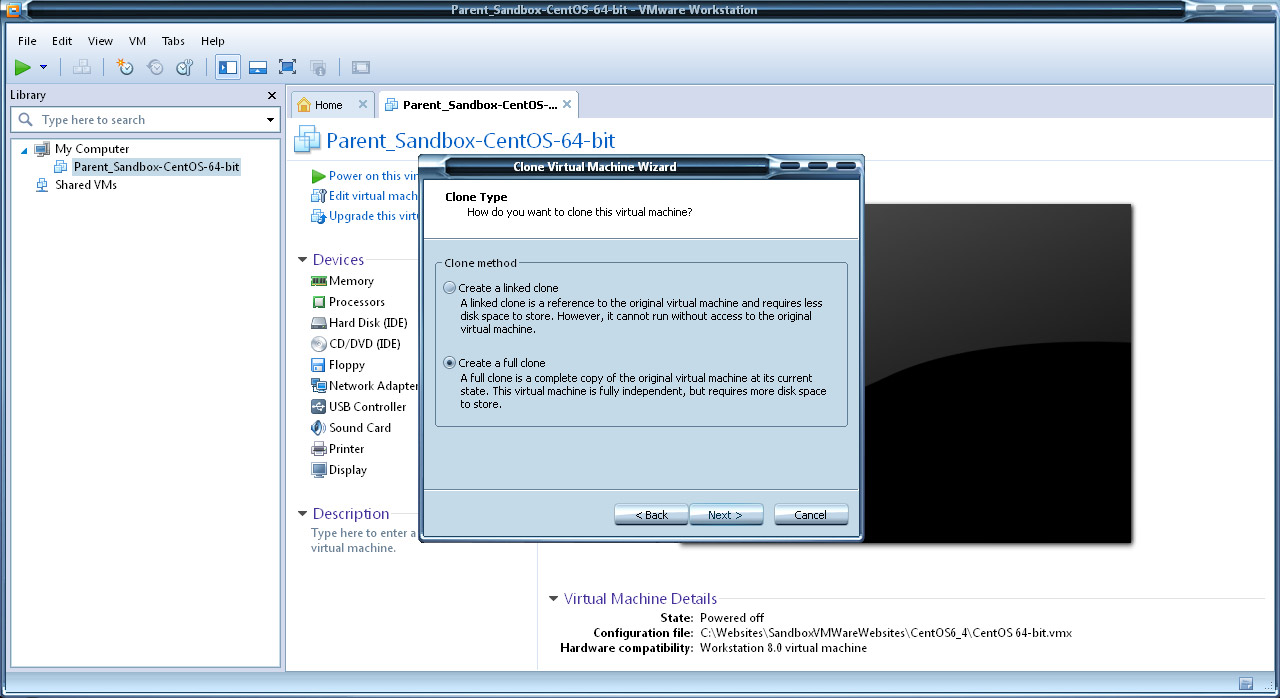 Project Clone: Cloning our base LAMP CentOS VM and performing futher