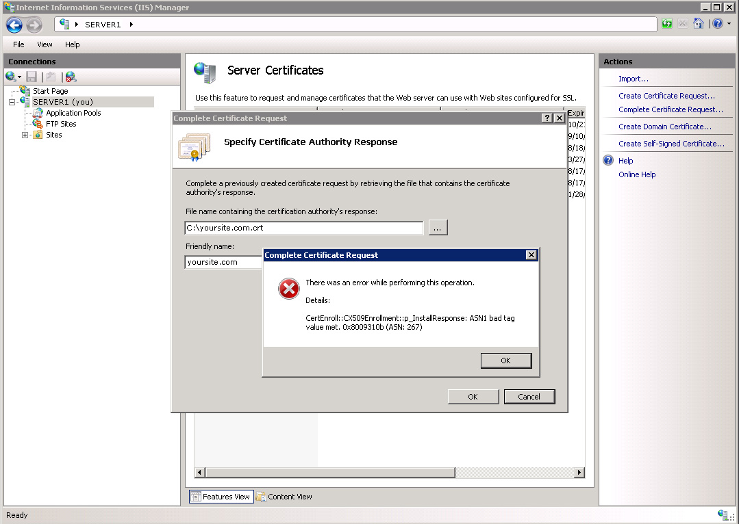 Project Ssl Tips On Importing Ssl Certificates To Windows Server