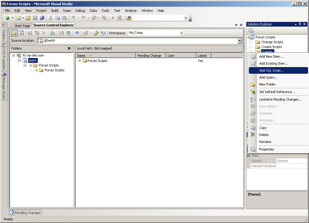 TFS Tutorial: Step by step tutorial on TFS 2008 and Microsoft SQL
